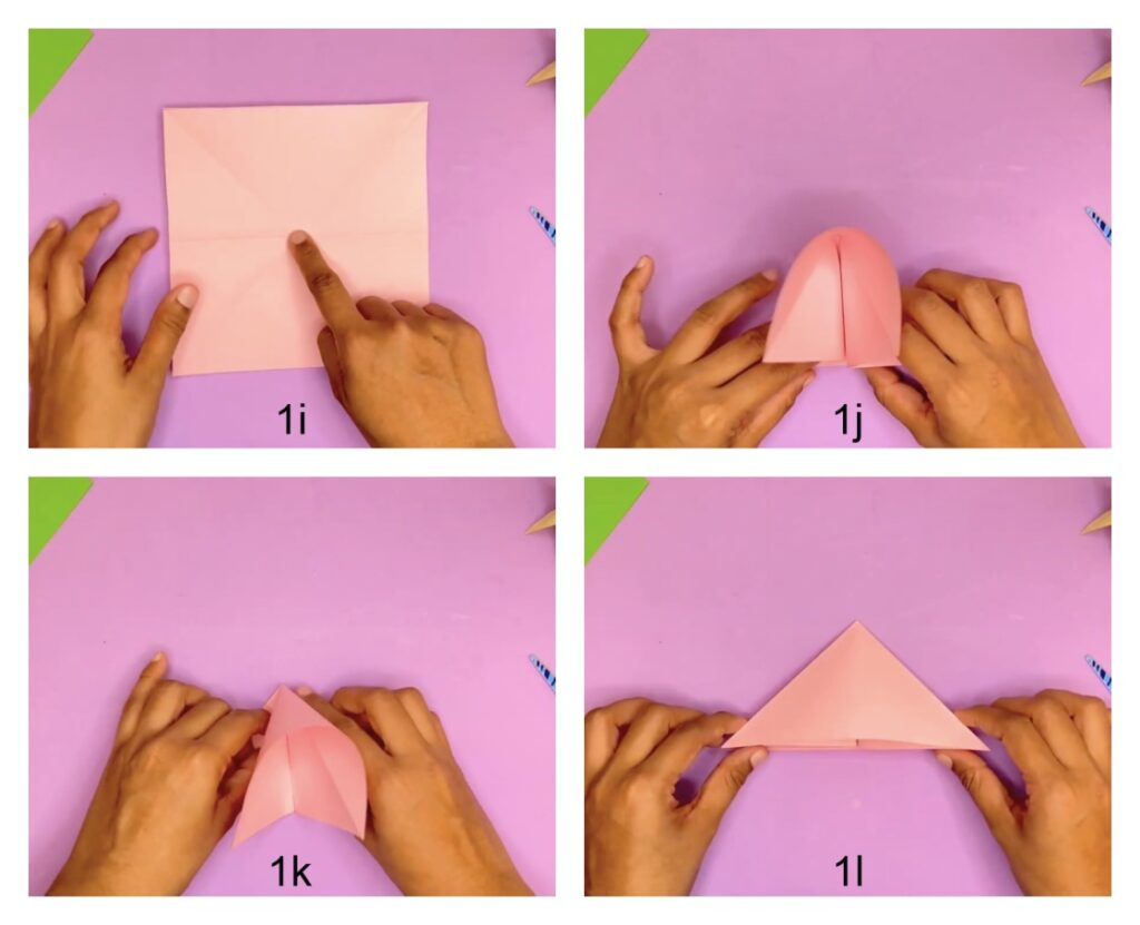 How to make a paper tulip flower with stem and leaf