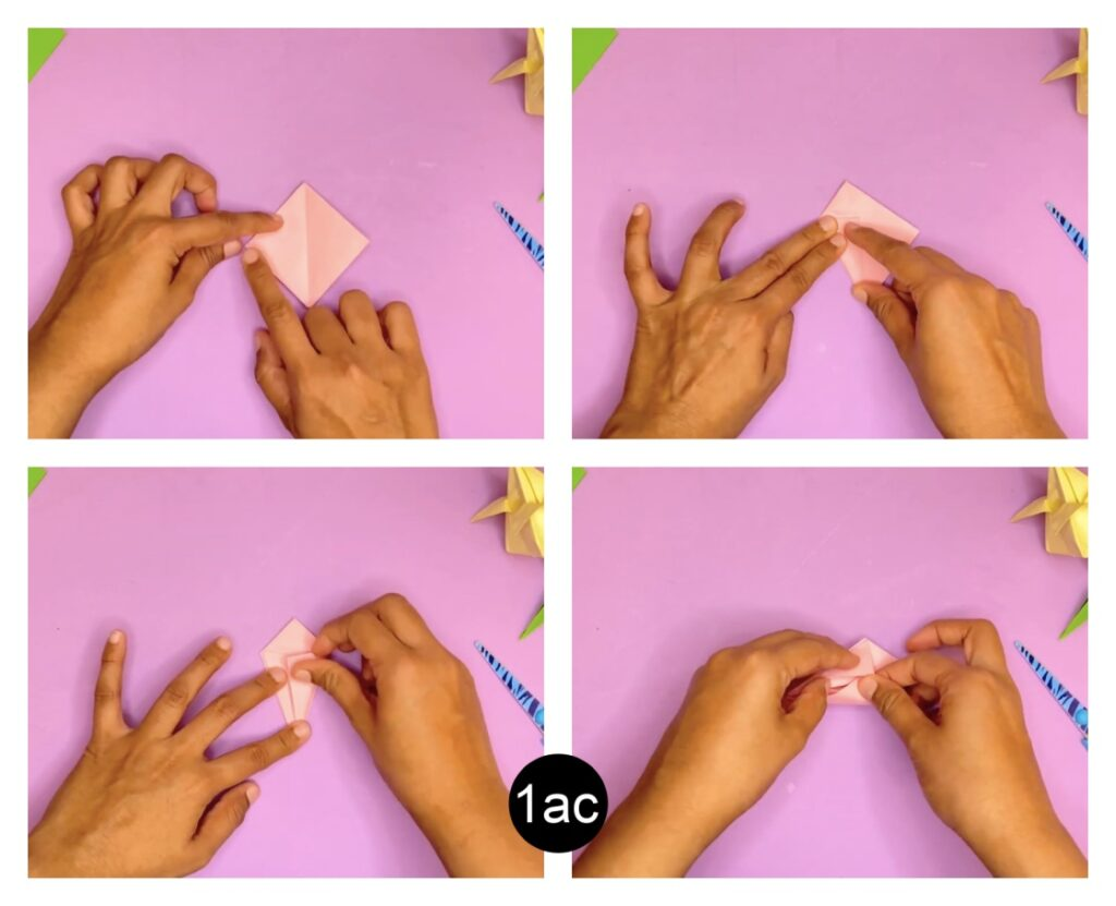 How to make a tulip flower with craft paper