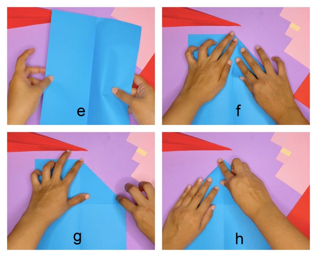 How to make a paper airplane step-by-step