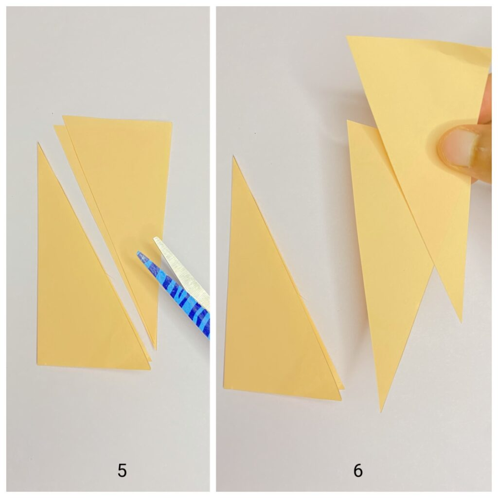 How do you make a leaf out of colored paper