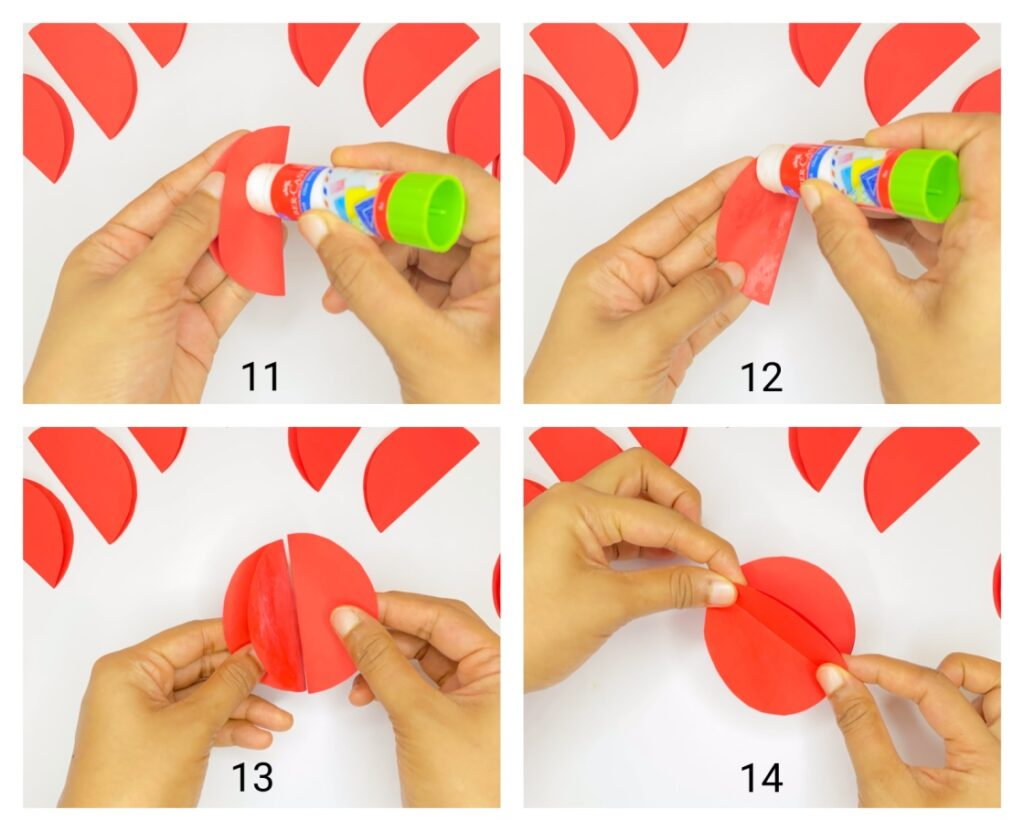 how to make paper apple step-by-step using construction paper