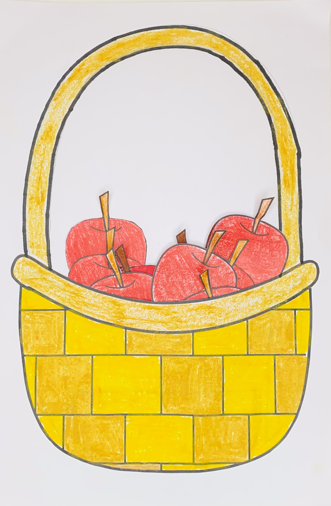 Fall apple picking craft for kids (with free printable template)