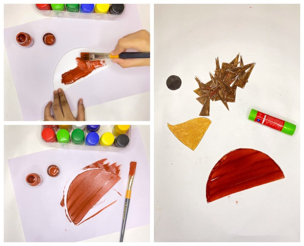 Paper plate hedgehog craft for kids with free printable template