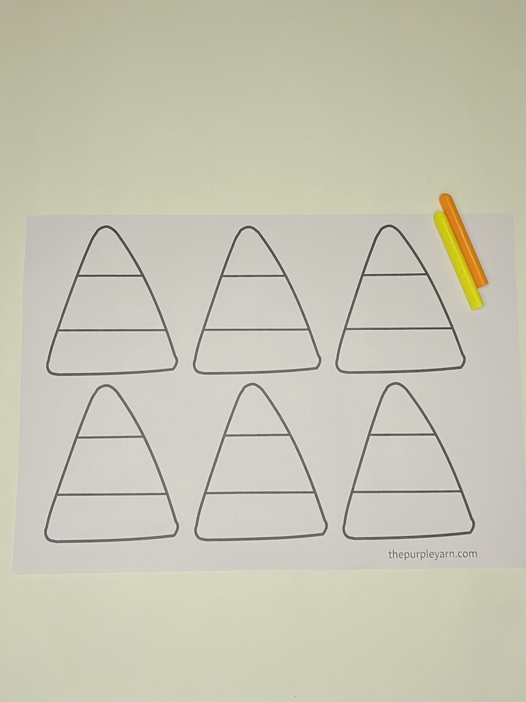 Easy candy corn craft for kids