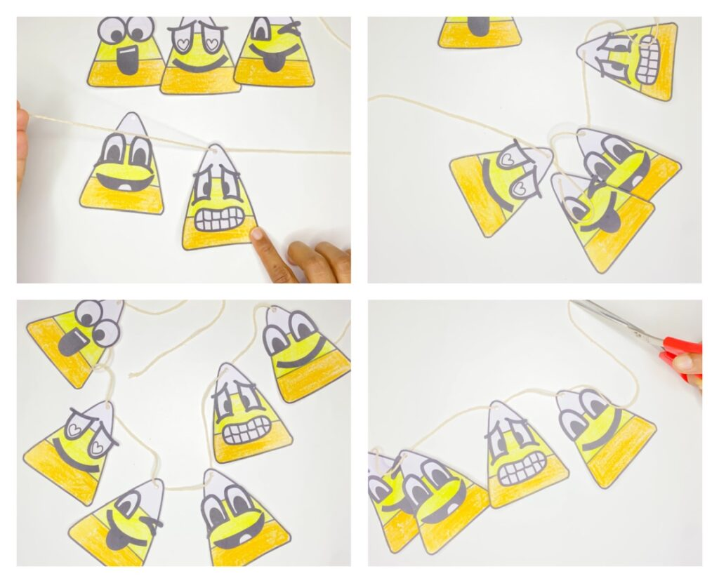 Step-by-step easy candy corn halloween craft for kids