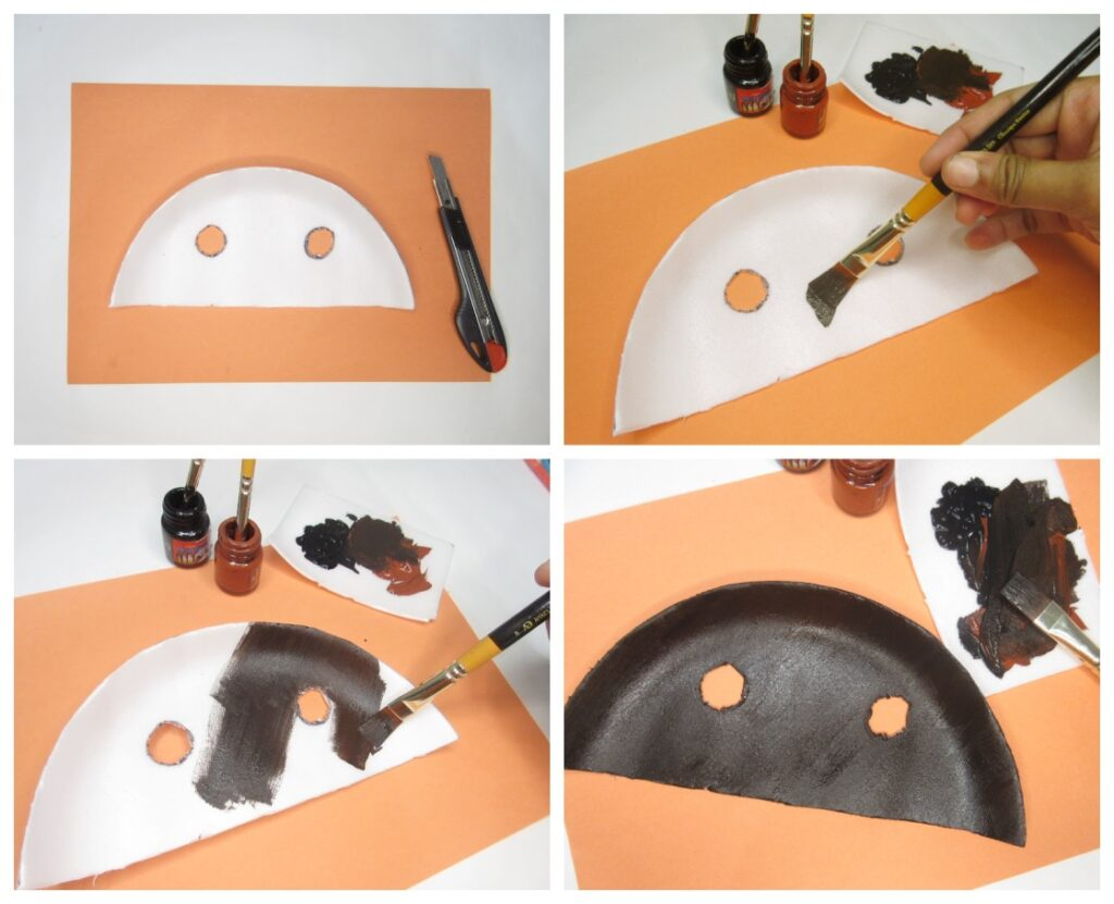 paper plate turkey mask