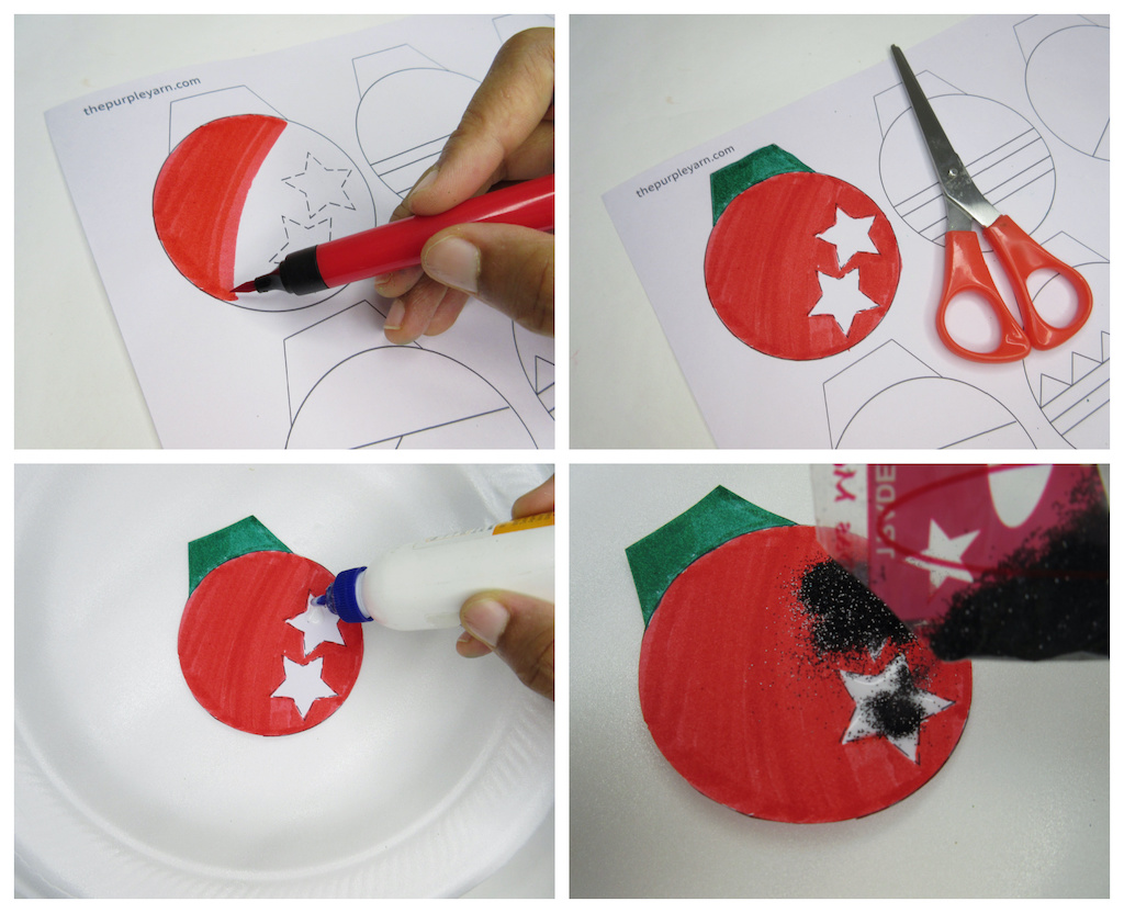 christmas jingle bell ornament step-by-step craft idea